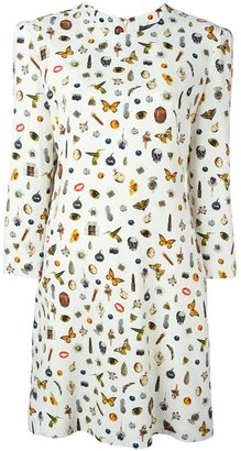 Alexander McQueen 'Obsession' print dress $1,775 thestylecure.com