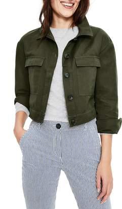 Boden Cotton & Linen Crop Utility Jacket