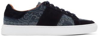 Etro Blue Paisley Sneakers