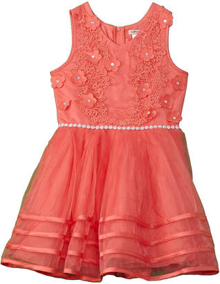 Nanette Lepore Girls' Embroidered Bodice Dress
