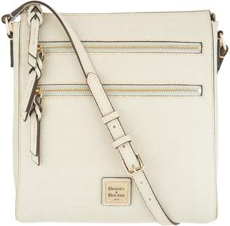 Dooney & Bourke Saffiano Leather Triple Zip Crossbody Handbag