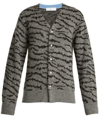 Toga Animal-jacquard wool-blend cardigan