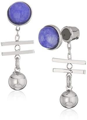 Danielle Nicole Klee Silver/Purple Drop Earrings