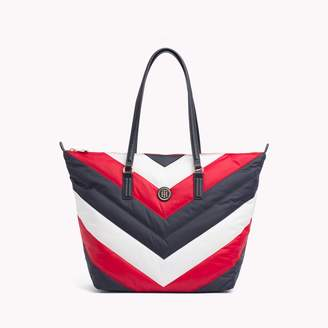 Tommy Hilfiger Chevron Puffer Tote