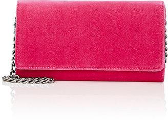 Barneys New York Women's Velvet Chain Wallet $175 thestylecure.com