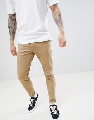 New Look Skinny Chinos In Tan