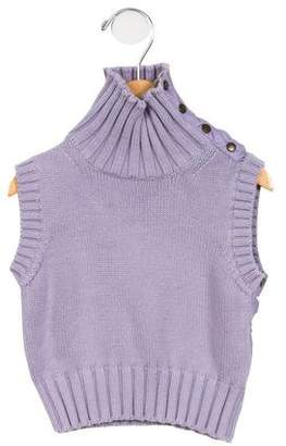 Burberry Girls' Sleeveless Turtleneck Sweater