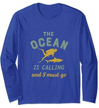 Vintage Scuba Diving T-shirt for Diver The Ocean Is Calling