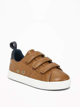 Old Navy Faux-Leather Secure-Strap Sneakers for Toddler Boys & Baby