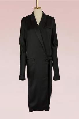 Haider Ackermann Shiny Wrap Dress