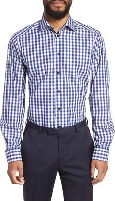 Eton Contemporary Fit Check Dress Shirt