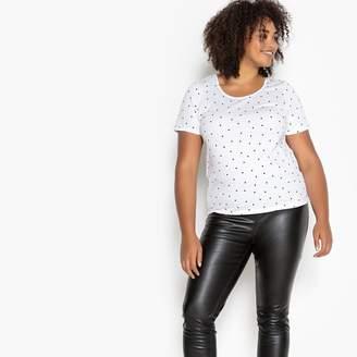 8ebffcdf9d5 CASTALUNA PLUS SIZE Polka Dot Print Cotton T-Shirt
