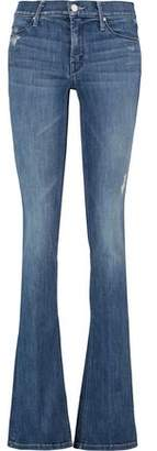 Mother Runaway Distressed Mid-Rise Flared Jeans