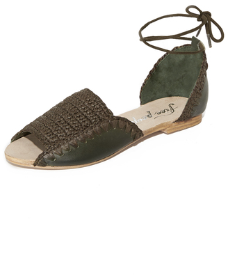 Free People Beaumont Woven Flat Sandals $78 thestylecure.com