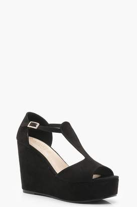 boohoo Cut Out Wedges
