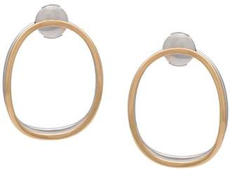 Delfina Delettrez 14kt gold double oval earrings