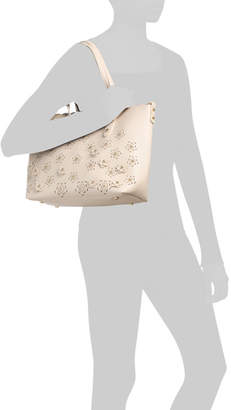 3d Floral Tote With Inner Bag