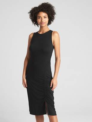 Gap Sleeveless Ruched Midi Dress