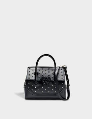 Versace Palazzo Empire Small Bag in Black Calf and Studs e52a35e4d424d