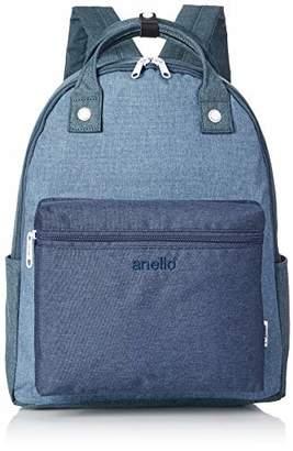 Anello (アネロ) - [アネロ] リュックサック AT-B2269 高密度杢調ポリ ハンドルデイパック デニムマルチ