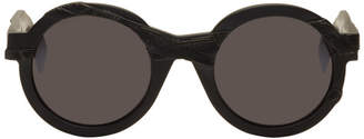 Yohji Yamamoto Black Round Disformed Sunglasses