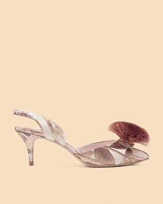 Ted Baker MIKALI Jacqrd pom kitten heel sandal