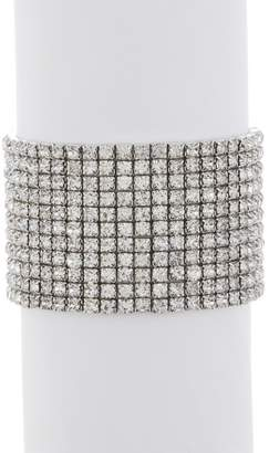 Free Press Wide Stretch Crystal Bracelet