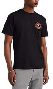 Central High Men's Panda-&-Roses Cotton T-Shirt - Black