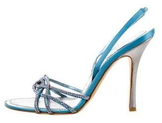 Rene Caovilla Embellished Satin Sandals