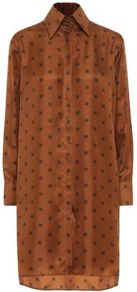 Fendi Printed silk-twill shirt dress