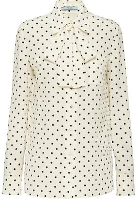 Prada polka dot shirt