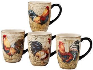 Certified International Gilded Rooster 4-Pc. Mug