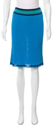 Prada Knee-Length Rib Knit Skirt