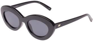 Le Specs Fluxus Sunglasses in Black
