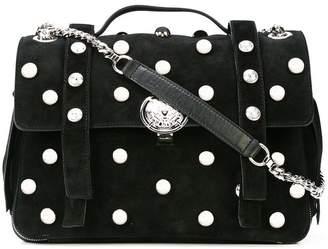 Balmain foldover studded shoulder bag