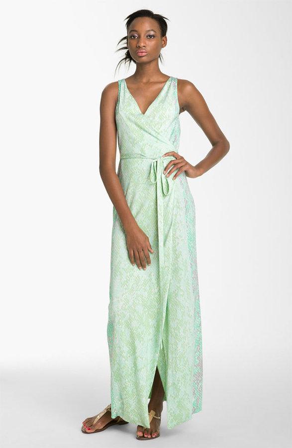 Diane von Furstenberg 'Yazhi' Silk Wrap Gown
