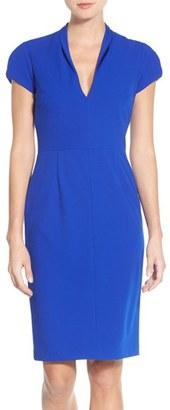 Betsey Johnson Puffed Sleeve Scuba Sheath Dress $138 thestylecure.com