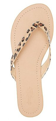 Leopard Print Strappy Thong Sandals $0.99 thestylecure.com