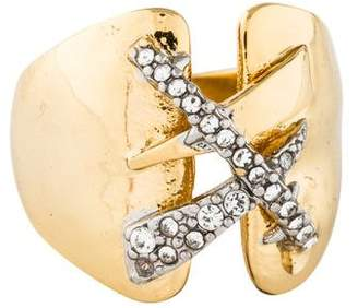 Alexis Bittar Crystal Criss Cross Ring
