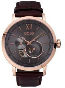 BOSS Hugo Rose-gold-plated watch visible mechanics One Size Assorted-Pre-Pack