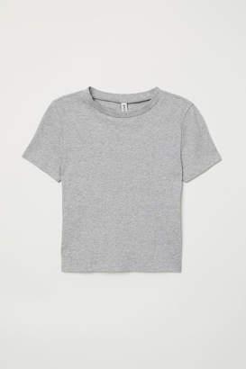 H&M Rib-knit Top - Gray