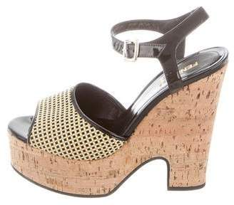 Fendi Woven Platform Sandals