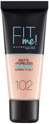 Maybelline Fit Me! Matte and Poreless Foundation 30ml (Various Shades) - 102 Fair Ivory