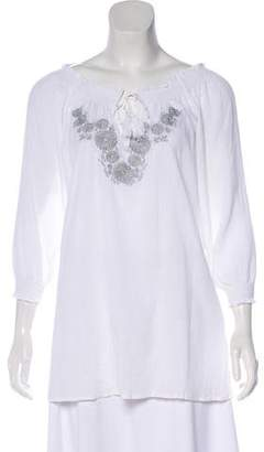 Joie Embroidered Peasant Top