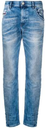 Diesel tapered low rise jeans