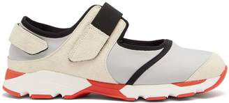 Marni Cut-out neoprene low-top trainers