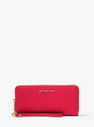 MICHAEL Michael Kors Jet Set Travel Leather Continental Wristlet