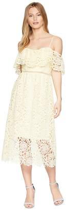 ASTR the Label Off Shoulder Lace Midi Dress Women's Dress