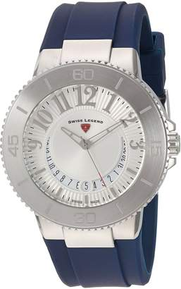 Swiss Legend Women's 'Riviera' Quartz Stainless Steel and Silicone Automatic Watch, Color: (Model: 11315SM-02-BLS)
