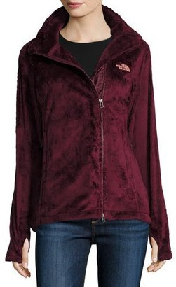 The North Face Osito 2 Fleece Parka Jacket, Deep Garnet Red $90 thestylecure.com